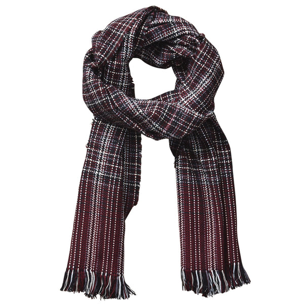 Arbor Lane Plaid Scarf - Wine