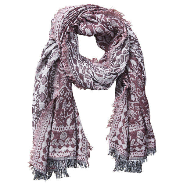 Nepal Tapestry Scarf - Red Wine