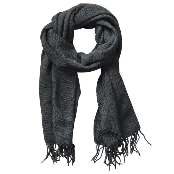 Soft Fall Solid Scarf - Gray