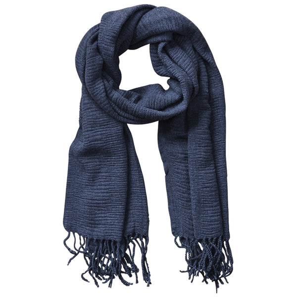 Soft Fall Solid Scarf - Navy