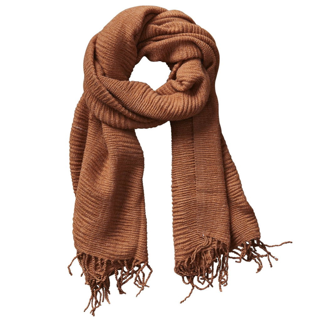 Soft Fall Solid Scarf - Rust