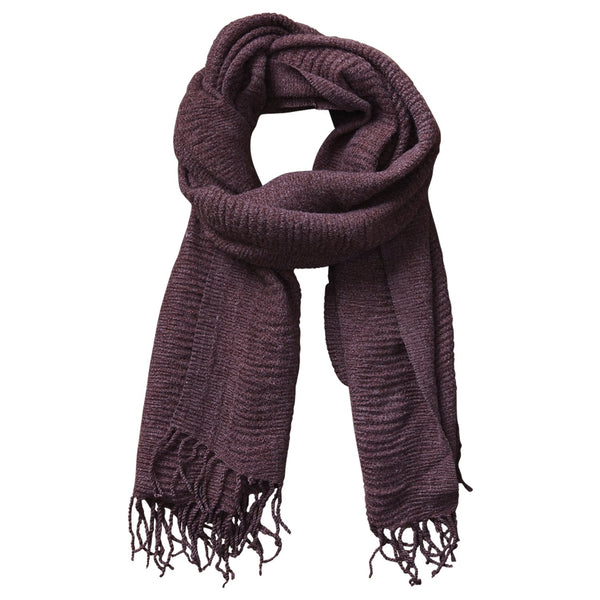 Soft Fall Solid Scarf - Wine