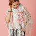 Floral Escape Tassel Scarf - Mint