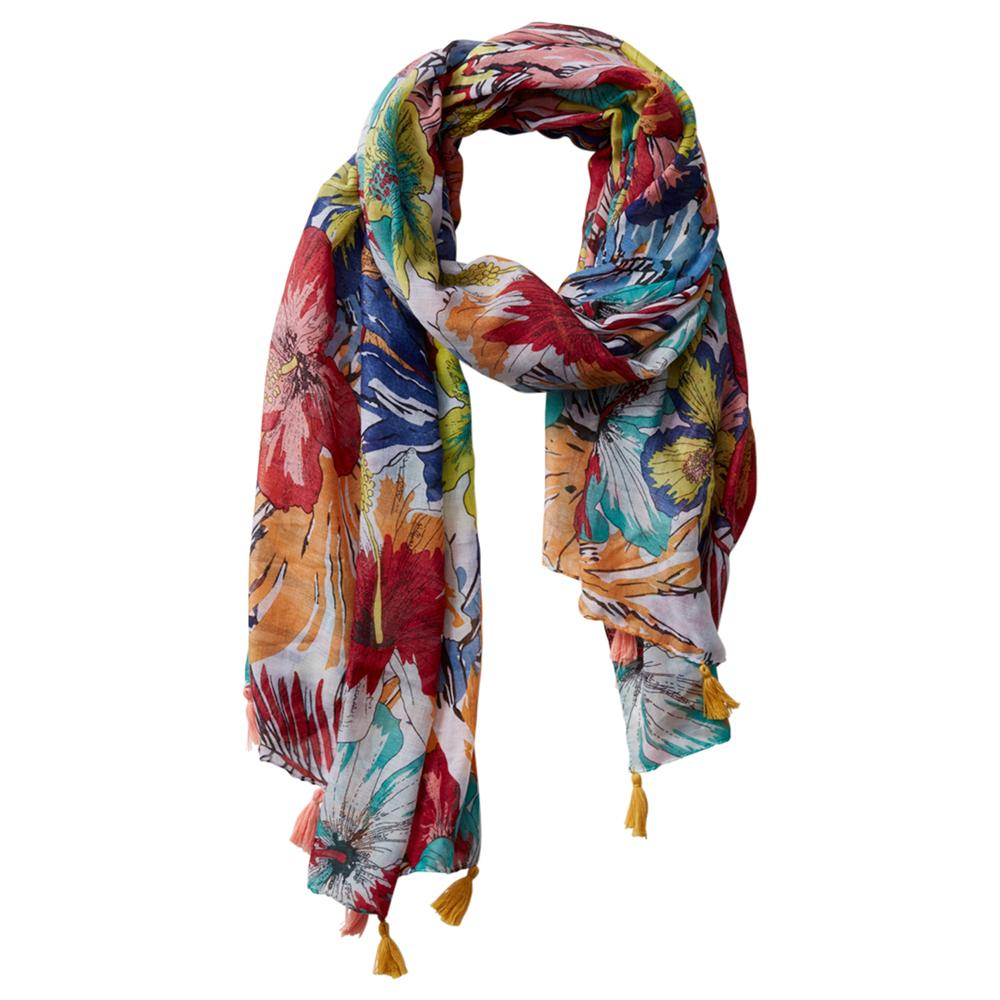 Wholesale Scarves - Urban Jungle Scarf - Fiji Summer Print - Tickled Pink