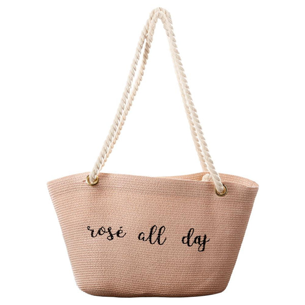 Wholesale Scarves - Rosé All Day Bag - Tickled Pink