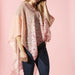 Field Of Flowers Poncho - Pink