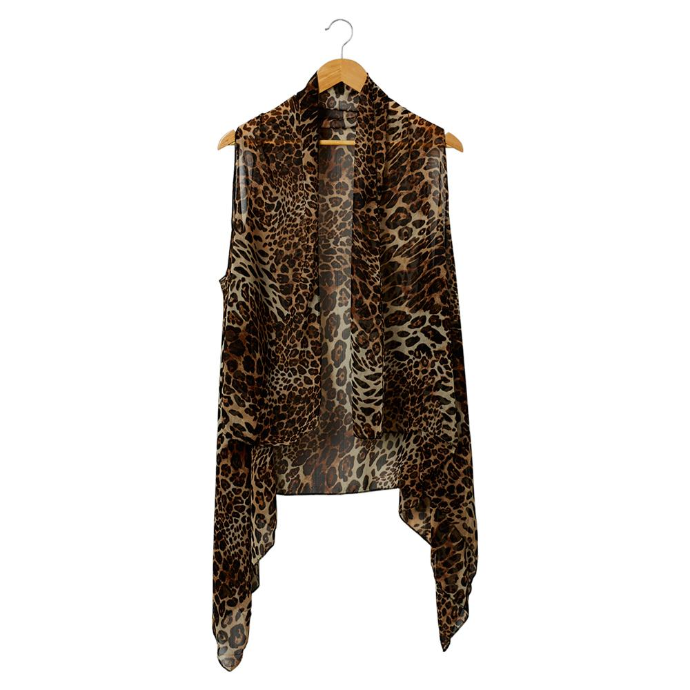 Wholesale Scarves - Sheer Leopard Donna Moda Vest - Tickled Pink