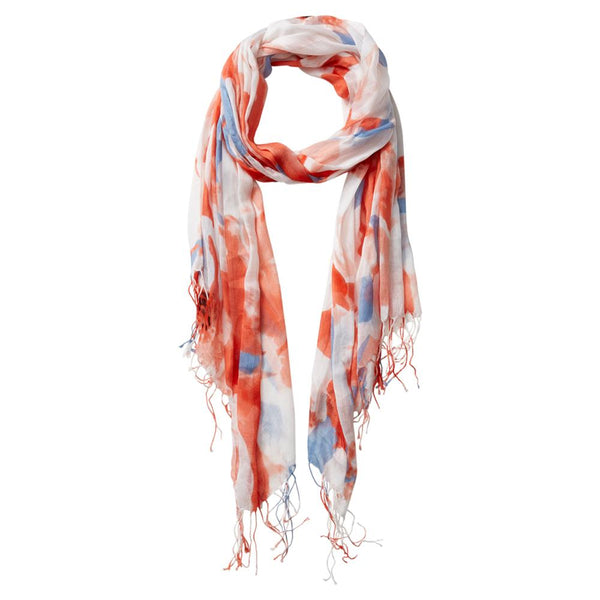 Wholesale Scarves - Large Bunch Floral Fringe Scarf - Pink - Tickled Pink