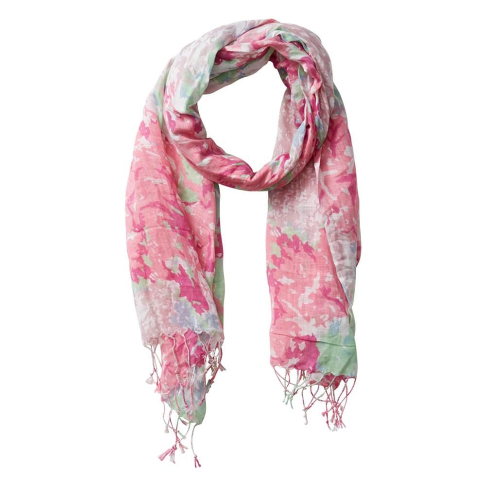 Wholesale Scarves - June Meadow Fringe Scarf - Soft Fuchsia - Tickled Pink