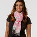 June Meadow Fringe Scarf - Soft Fuchsia