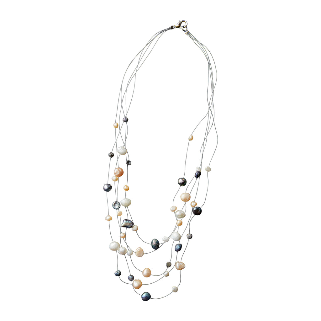 Prismatic Pearl Illusion Necklace