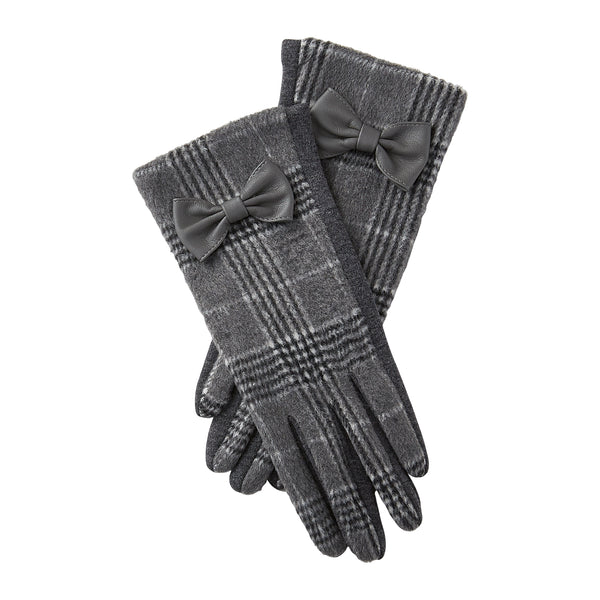 White & Gray Kennedy Plaid Gloves