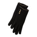Black Edward Button Gloves