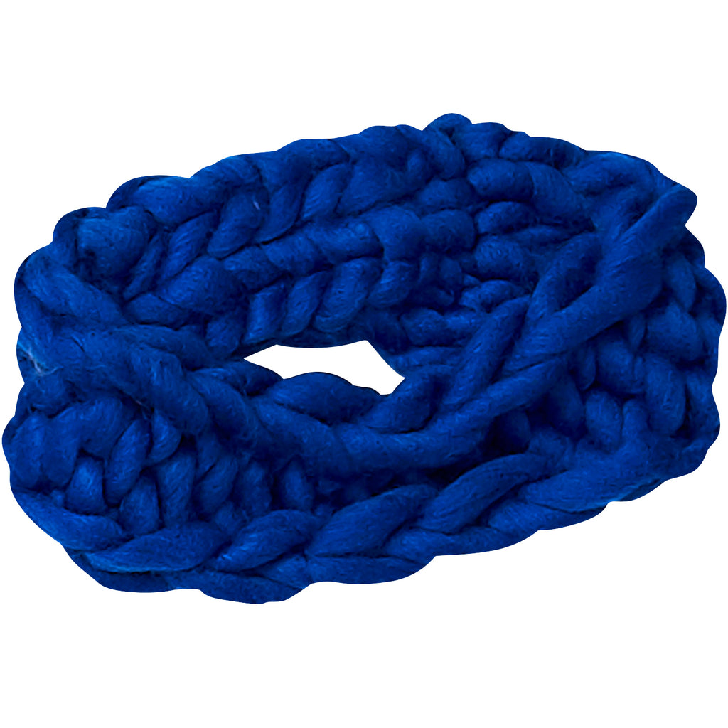Navy Chunky Knit Headband
