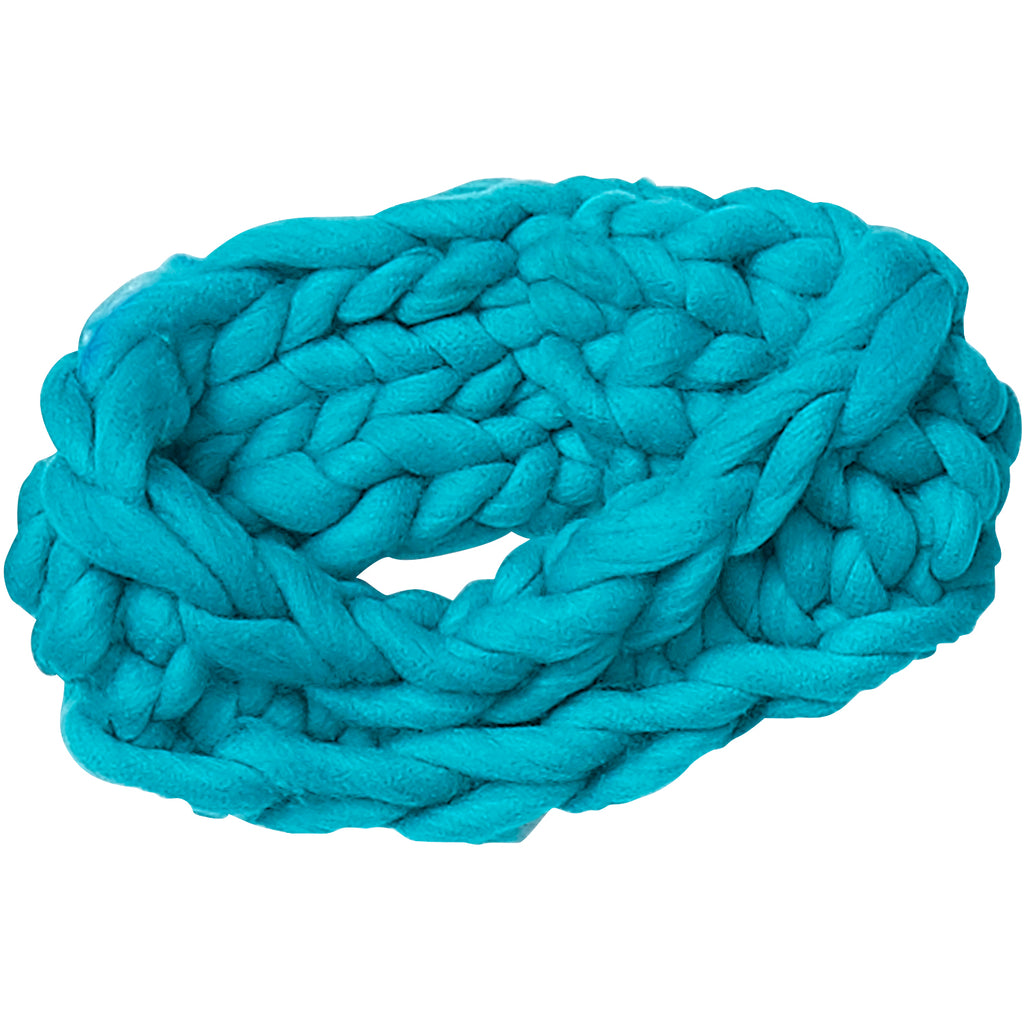 Blue Chunky Knit Headband