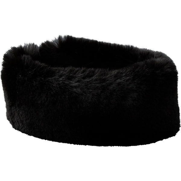 Black Ski Bunny Faux Fur Headband