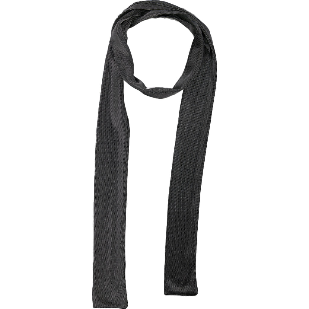 Black Metallic Skinny Scarf