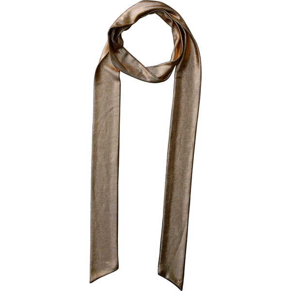 Rose Gold Metallic Skinny Scarf