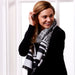 Black & White Temple Stripe Scarf