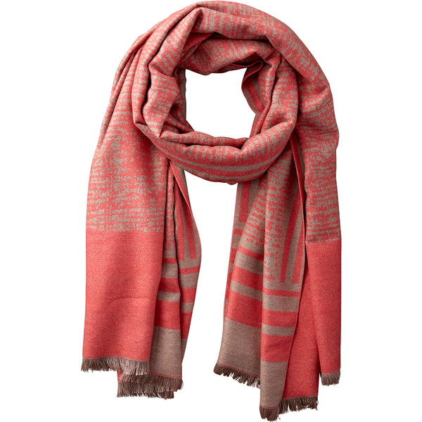 Rouge & Beige Temple Stripe Scarf