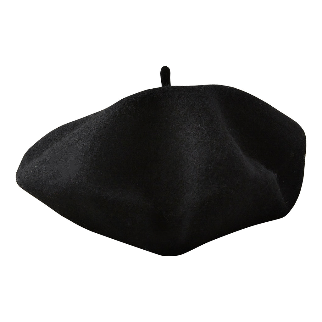 Black Emma Wool Beret
