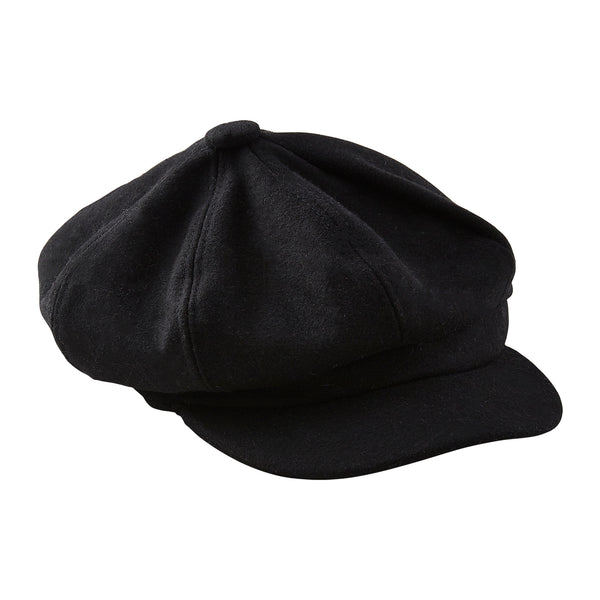 Black News Boy Cap
