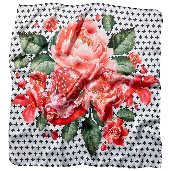 Pomegranate Lola Square Scarf - 21.5 X 21.5""