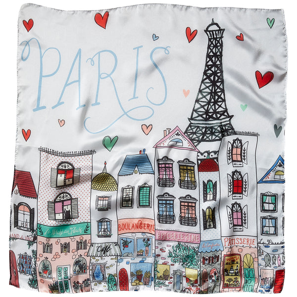 To Paris With Love Lola Square Scarf