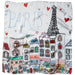 To Paris With Love Lola Square Scarf - 21.5 X 21.5""