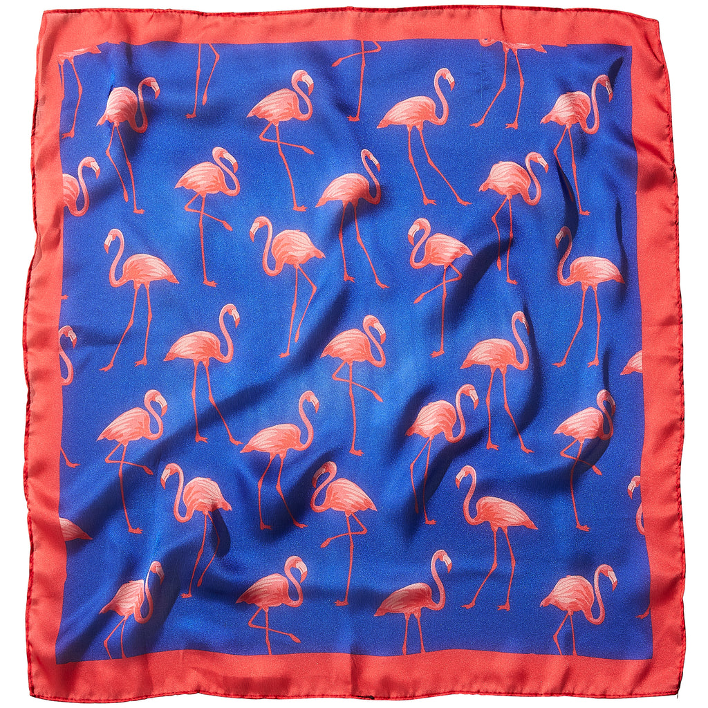Flamingo Flock Lola Square Scarf - 21.5 X 21.5""