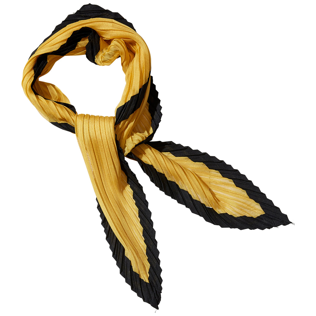 Canary & Black Crinkle Diamond Scarf