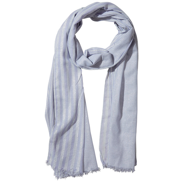 Lilac Shimmer Stripe Scarf