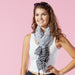 Gray Cross Hatch Fringe Scarf