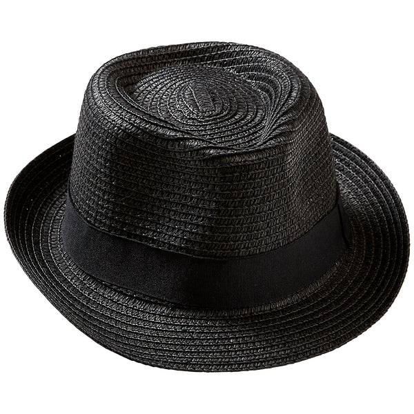 Black Stripe Beach Fedora