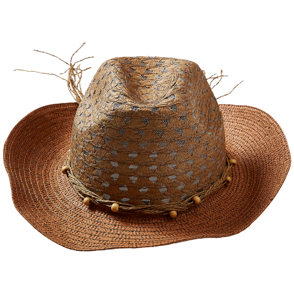 Brown Beach Cowboy Hat