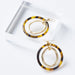 Tortoise Double Circle Earrings