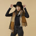 Oakley Plaid Fringe Scarf - Gold