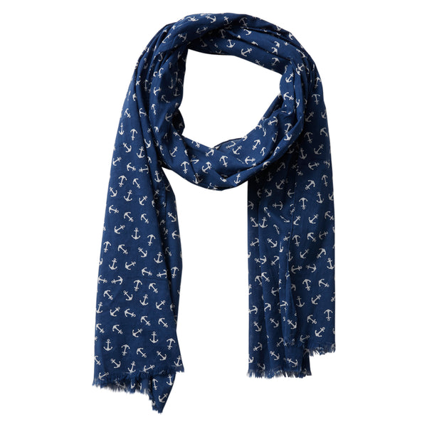 Tiny Cotton Anchors - Navy White