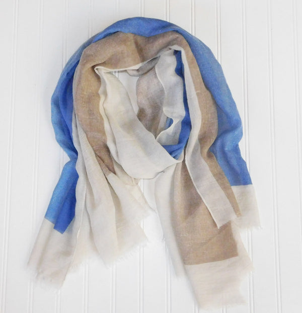 Artist's Color Fade Scarf - Blue