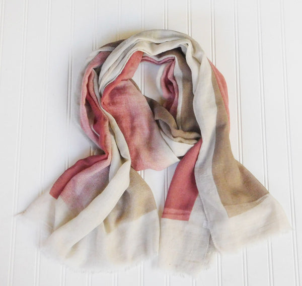Artist's Color Fade Scarf - Red