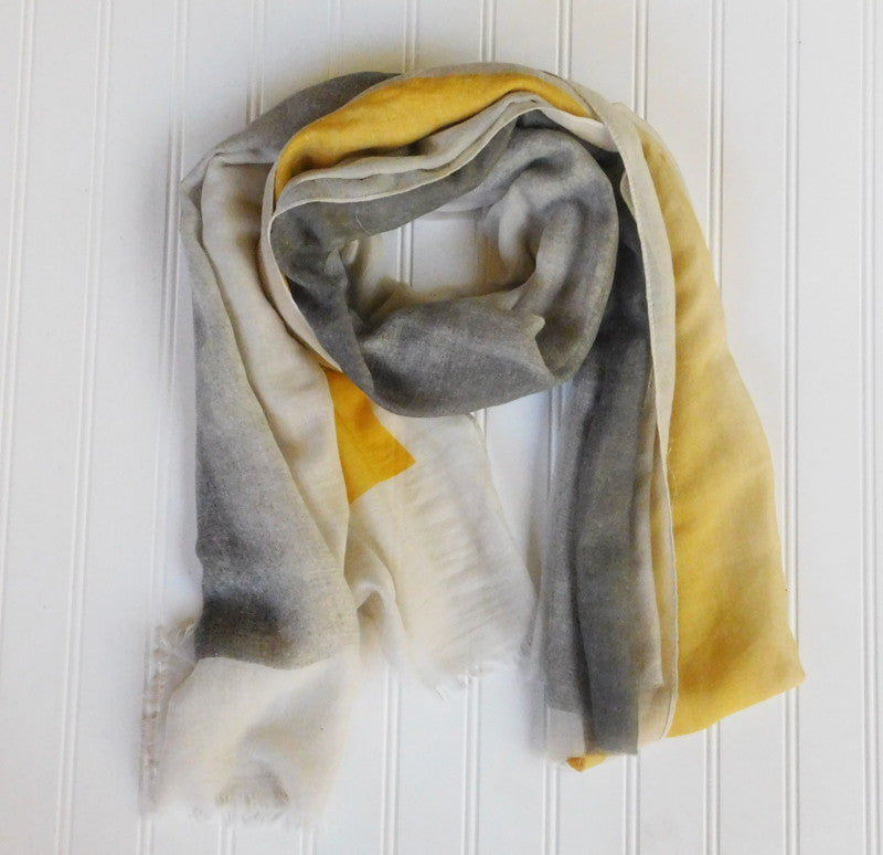 Artist's Color Fade Scarf - Yellow