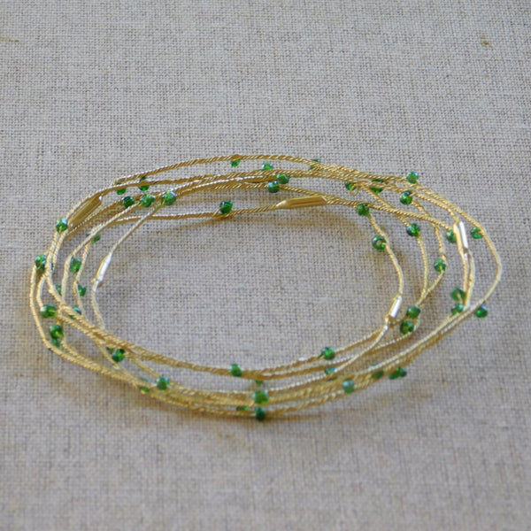 Tiny Crystals Bangles - Green