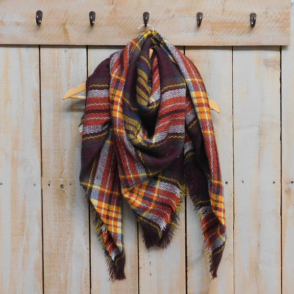 Bountiful Blanket Plaid - Brick