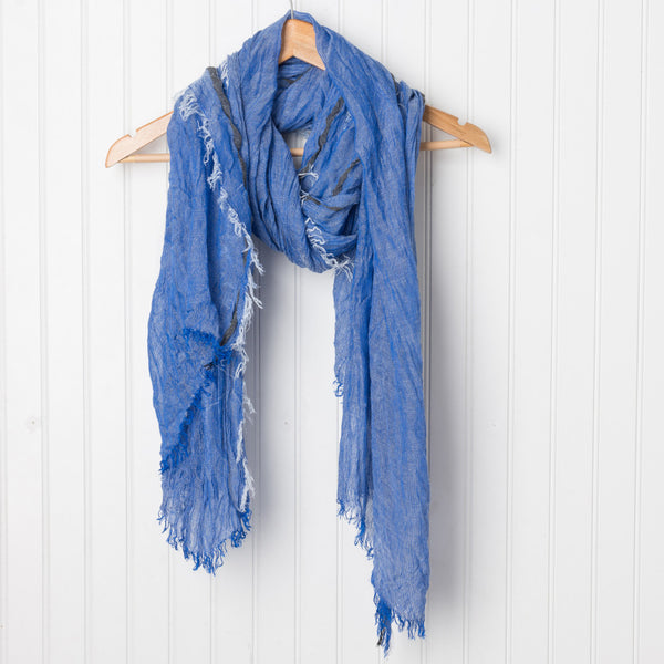 Bright and Happy Scarf - Blue