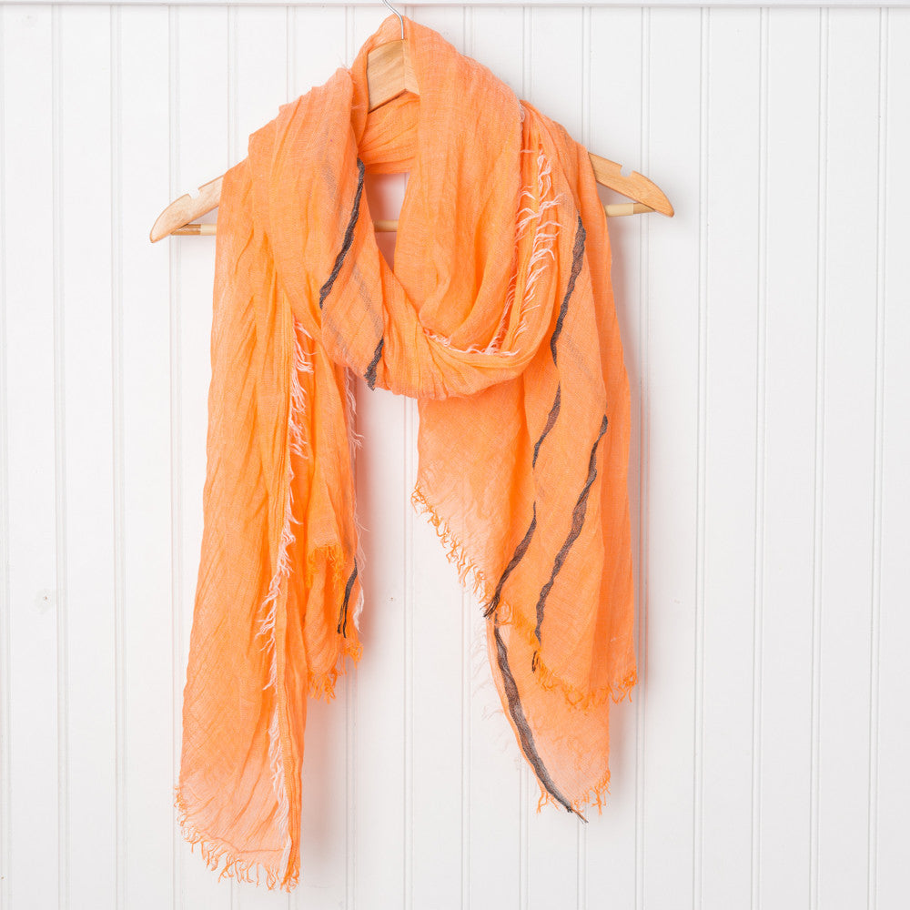 Bright and Happy Scarf - Orange