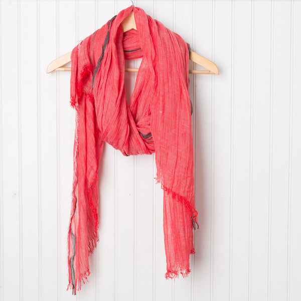 Bright and Happy Scarf - Red
