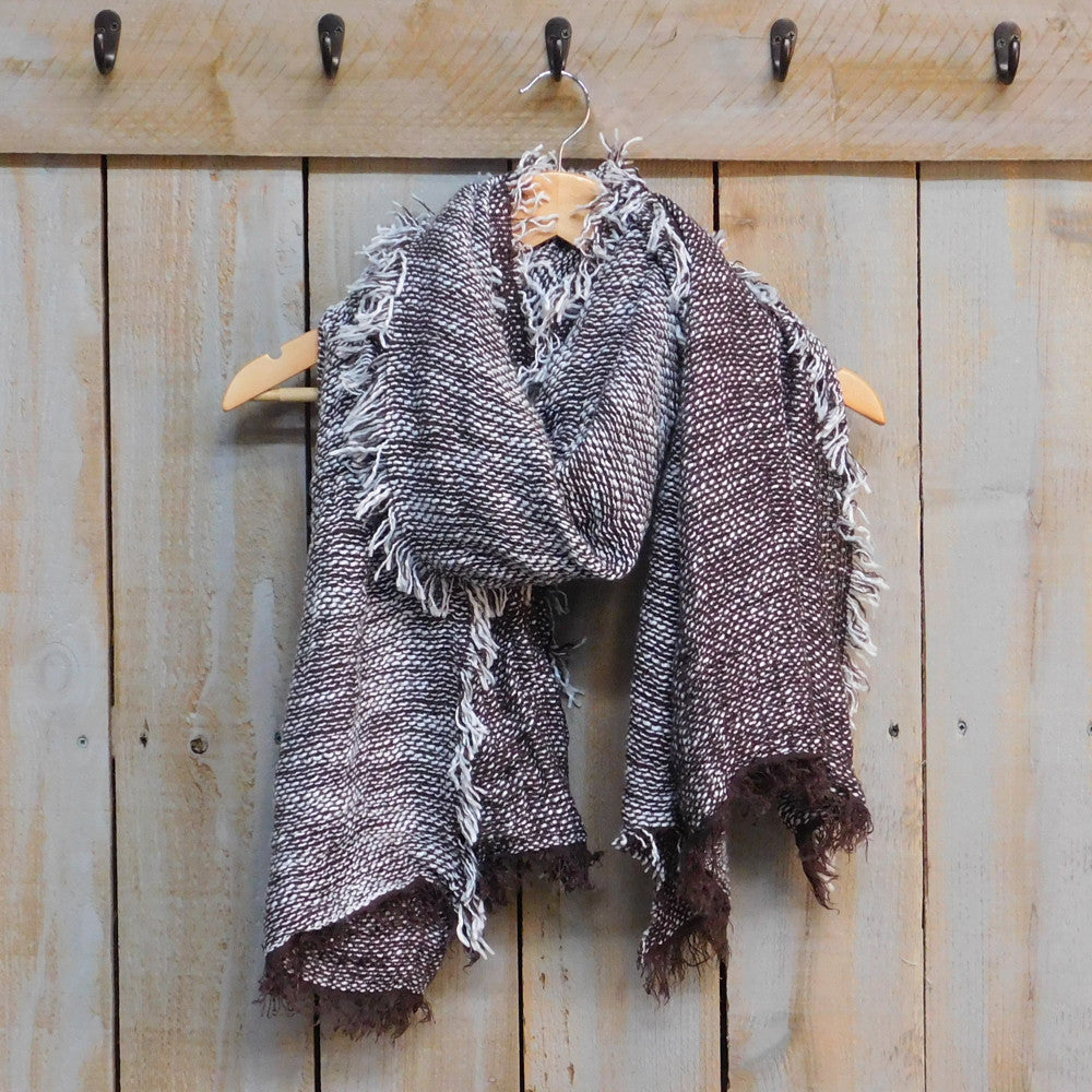 Cozy Weekend Scarf - Brown