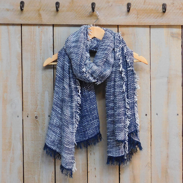 Cozy Weekend Scarf - Navy