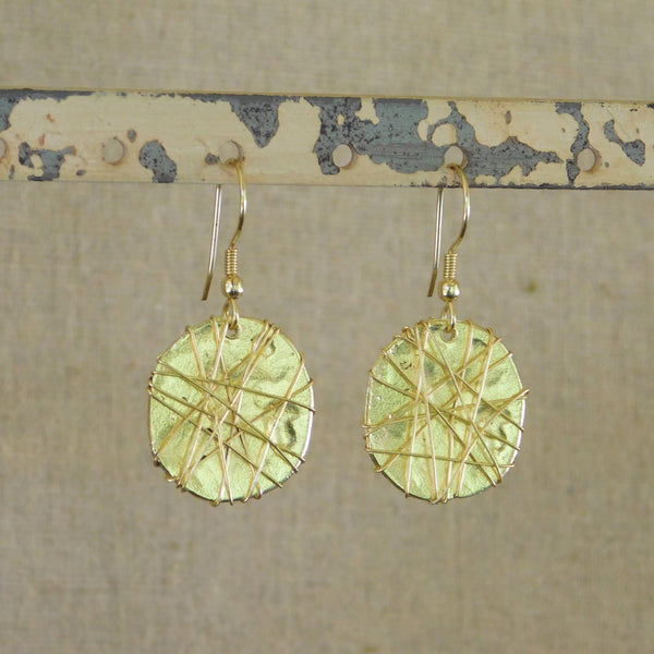 Elegant Threads Earrings - Gold