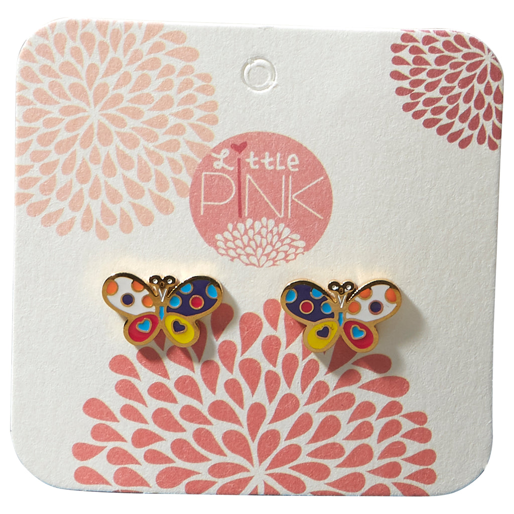 Little Pink Earrings - Butterfly